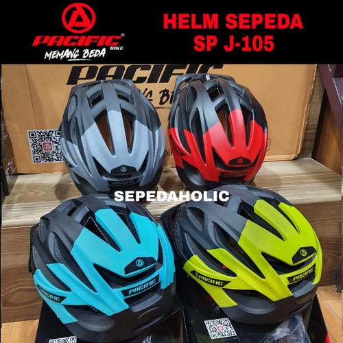 Foto Produk Helm Sepeda Dewasa Pacific SP J105 Warna Matte Doff Ada Lampu - Merah dari Sepeda Holic