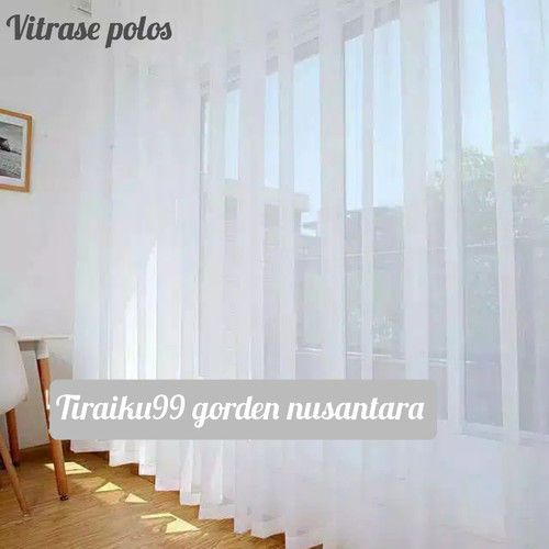 Foto Produk gorden vitrase putih polos - 100 x 150 cm dari tiraiku99 gorden nusantara