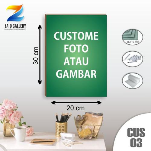 Foto Produk Hiasan dinding wall decor custom Foto& Gambar MDF 20x30cm + Ring dari Zaid Galeri