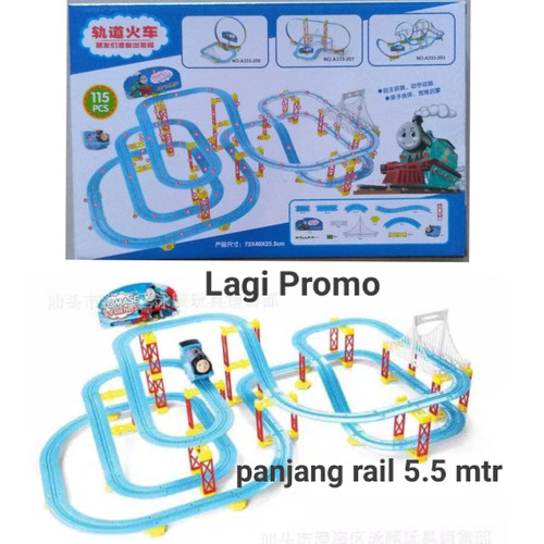 Foto Produk Mainan Mobil Rail Kereta Api Thomas And Friends Muter 360° Isi 115Pcs dari MIAtamia