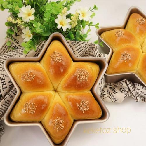 Foto Produk Loyang roti manis bentuk bintang dari keketoz