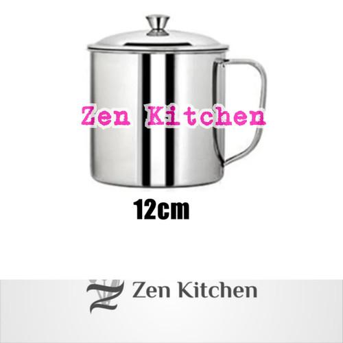 Foto Produk murah mug cangkir gelas stainless 12cm dari Zenn Kitchen