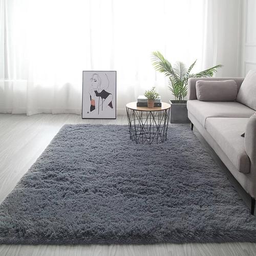 Foto Produk Karpet polos rasfur 150*100 Tebel 3cm - Abu-abu dari Luzzy Distibutor Karpet
