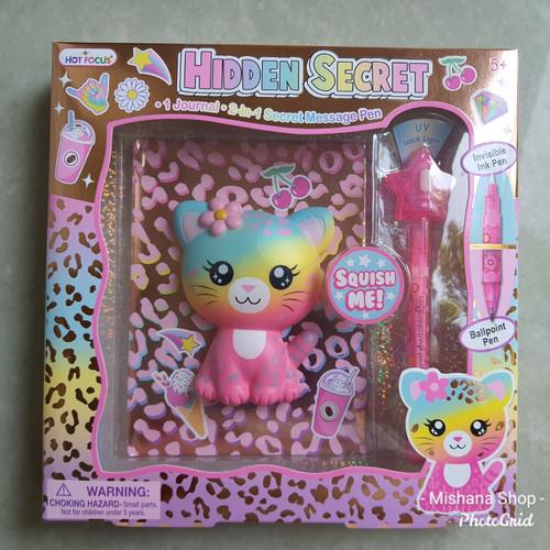 Foto Produk Buku Diary Anak Secret Message Kitty & Invisible Ink Pen HOT FOCUS dari Mishana Shop