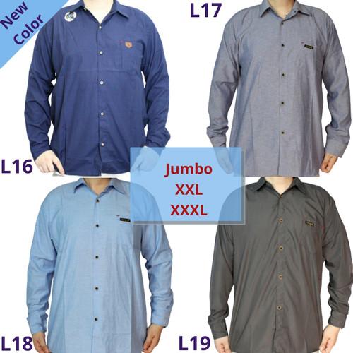 Foto Produk Grosir Kemeja (Jumbo) Polos Lengan Panjang Pria - Warna, XXXL dari Kingdom Fashion T. Abang