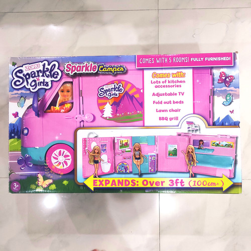 Foto Produk Zuru Sparkle Girls Sparkle Camper Caravan Car - Mainan Mobil Barbie dari Kitsune Toy Store