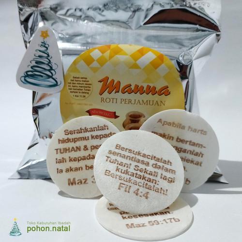 Foto Produk Hosti Ayat Manna Roti Perjamuan 100pcs dari pohon.natal