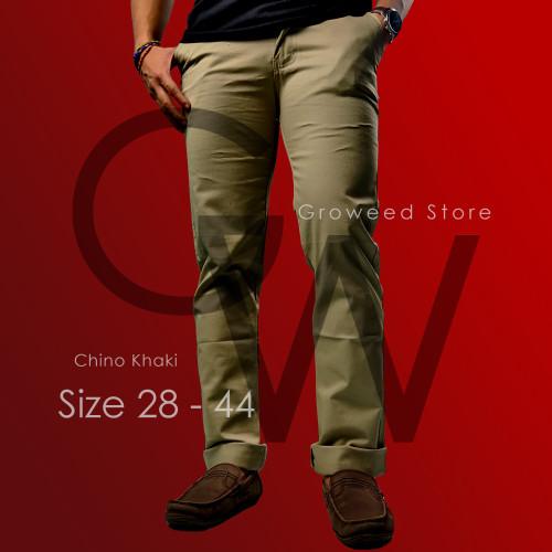 Foto Produk BIG SIZE 36-42 Celana Chino Malmo Impresif Ukuran Jumbo - Khaki, 36 dari groweed_official