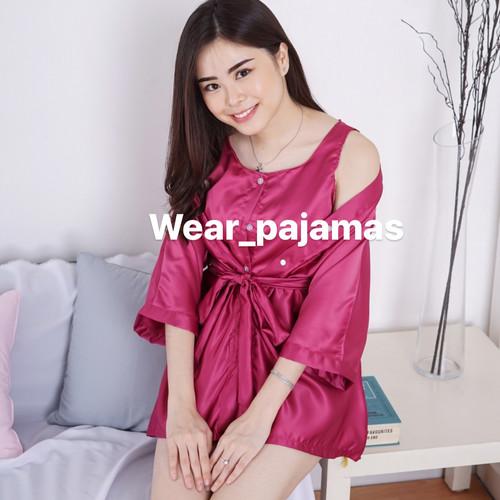 Foto Produk PIYAMA 3in1 WANITA DEWASA TERMURAH POLOS dari Wear Pajamas