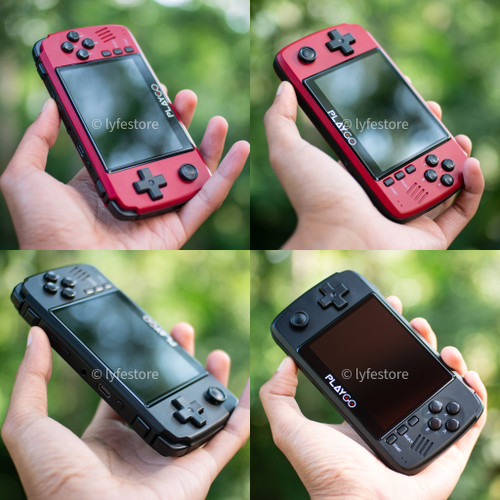 Foto Produk Playgo Retro Game Boy RG350 & Pocketgo 2 Alternative - Hitam dari Lyfe Store