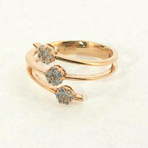 Foto Produk Cincin Emas Berlian Goldmart Spiral Ring - SR 0795AY dari Goldmart Official Shop