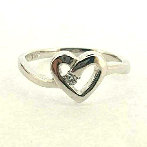 Foto Produk Cincin Emas Berlian Eternal Love - SR 0106W dari Goldmart Official Shop