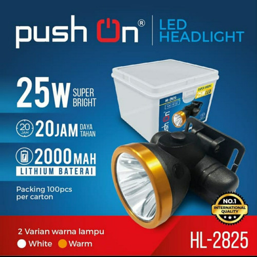 Foto Produk senter kepala pushon 2825.headlamp cas pushon - Kuning dari terang surya