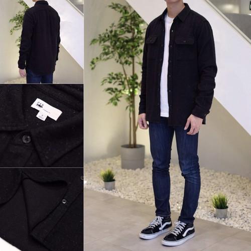 Foto Produk Kemeja GAP Cozy Twill Standard Fit Flannel Shirt Black Marl Original - XS dari OTOMO Store