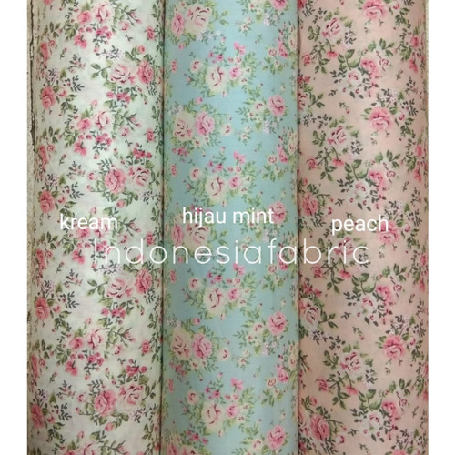 Foto Produk Kain bahan Katun Jepang Tokai senko motif Silvya - Hijau Mint dari Toko Kain Grosir