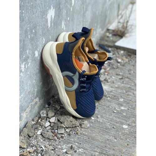 Foto Produk sepatu running ortuseight original TITAN Navy Tan Offwhite new 2020 dari Kicosport