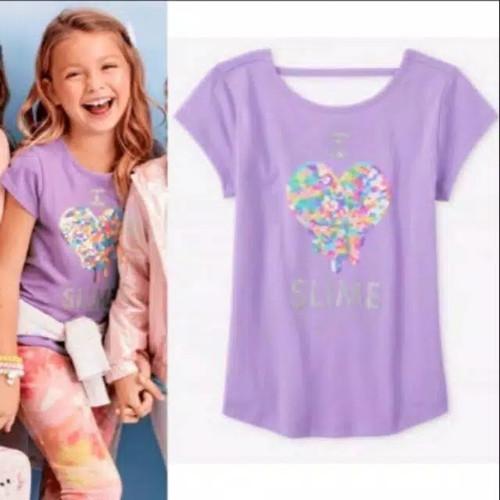 Foto Produk Baju anak kaos sequin branded Children's Place purple heart 6-12 T - 5-6 T dari Galeri Ona