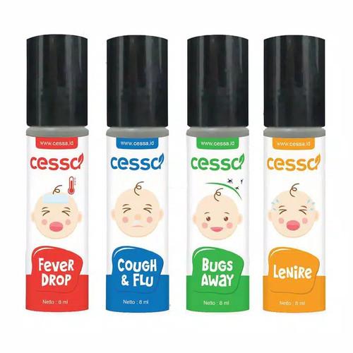 Foto Produk Cessa Baby (0-2 tahun) Fever Drop, Cough n Flu, Lenire, dan Bugs Away - Lenire dari Grosir Snack - Dinochan