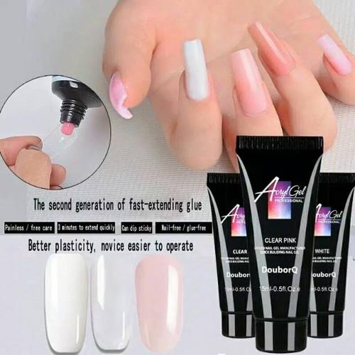 Foto Produk ACRYL 15ml polygel poly gel nail extension acrylic sambung kuku - NUDE PINK dari Fannynails