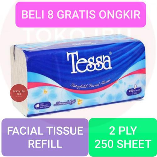 Foto Produk TISSUE TESSA 250 SHEET 2PLY REFILL TISU TP22 dari tokoibu168