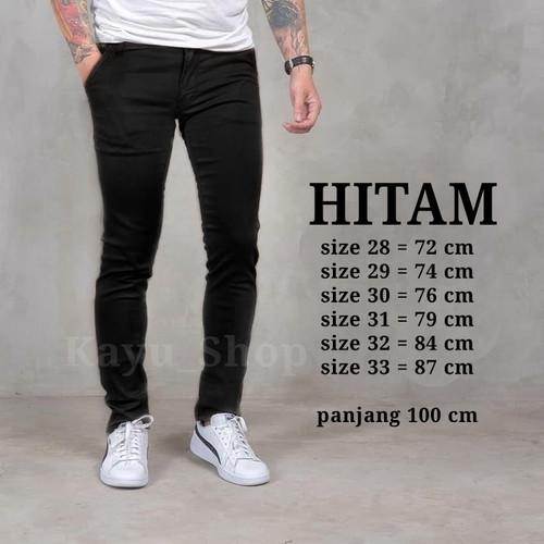Foto Produk Celana Chino Pria Premium / chino Pria Skinny / Chino Abu Grey - Hitam, 28 dari kayu shop