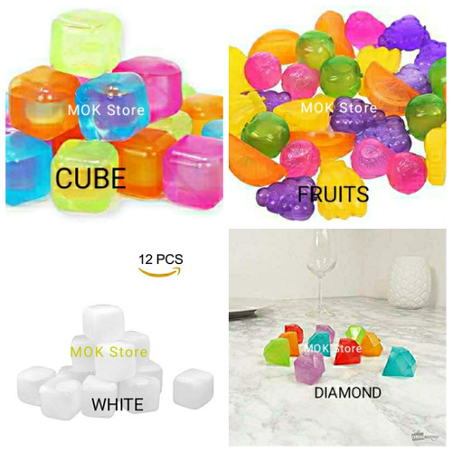Foto Produk Reusable Plastic Ice Cube 12 Pcs - Cube dari MOK Store