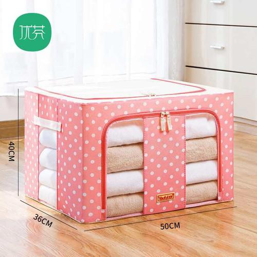 Foto Produk STORAGE BOX 66 liters frame baja/Double zipper Large box 66L - Coffee dari Fionna. c. shop