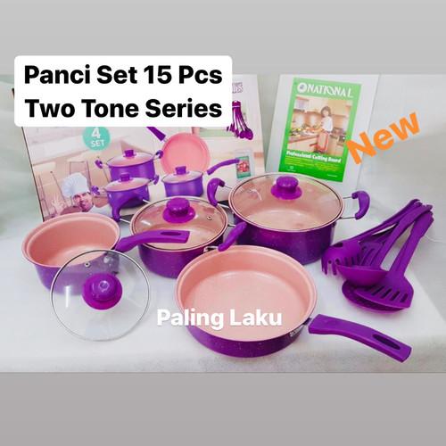 Foto Produk Panci Set 15 pcs - cookware set + spatula + talenan - 2 Tone dari Cellis Houseware