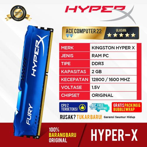 Foto Produk RAM KINGSTON HYPER X FURY GAMING LONGDIMM DDR3 2GB PC 12800 dari ACE COMPUTER 22