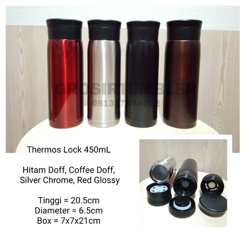 Foto Produk Tumbler lock Vacuum 450 ml dari grosir tumbler