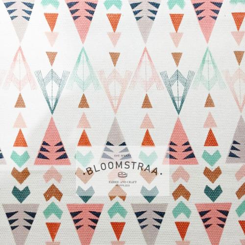 Foto Produk Kain Kanvas Indiana Pastel canvas bahan geometric triball ethnic soft dari Bloomstraa