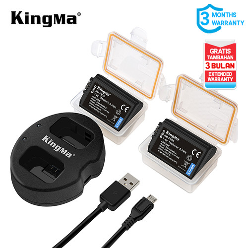 Foto Produk KINGMA BATTERY SONY NP-FW50 2 PACK WITH DUAL CHARGER NON LCD dari MACRO