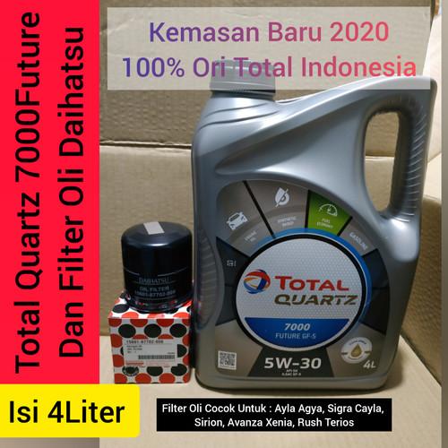 Foto Produk Paket Oli Mobil Total 5w-30 4L + Filter oli Daihatsu dari Rejeki oli
