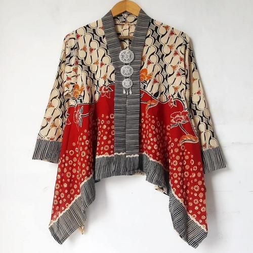 Foto Produk Batwing blouse batik kantoran Kartini modern dari Batik Sri