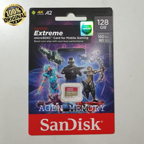 Foto Produk Memory Card MicroSD Micro SD Sandisk extreme extrim 128GB 128 GB A2 A1 dari AGEN  MEMORY