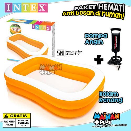 Foto Produk PAKET HEMAT KOLAM RENANG ANAK INTEX UK.BESAR DAN POMPA ANGIN INTEX SNI dari MainanPlus