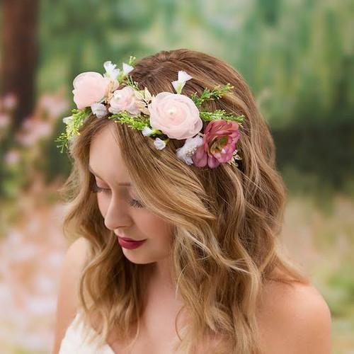 Foto Produk Mahkota Bunga / Bando Ikat Mahkota / Flower Crown Ikat PREMIUM dari Chowping Store