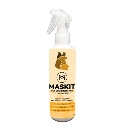 Foto Produk Maskit Penghilang Bau Kandang Hewan / Kotoran Hewan / Pet Odor Remover dari Maskit Store