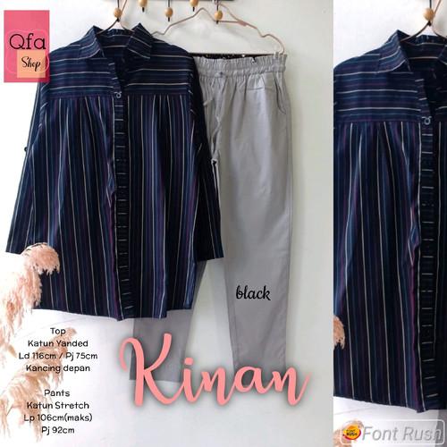 Foto Produk New Kinan Set Setelan Celana Wanita Jumbo Baju Kerja Big Size Modis dari Ilyassa Shop