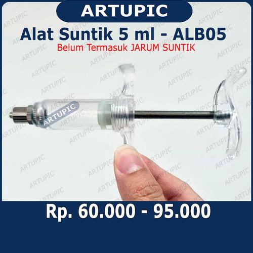 Foto Produk Alat Suntik 5 ml ALB05 Spuit Syringe Suntikan 5 ml Tabung Mika dari ArtupicPeralatanPeternak