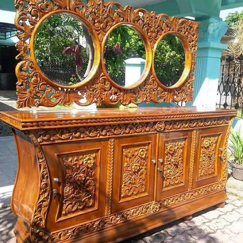 Foto Produk meja rias kayu jati ukiran mewah terbaru dari tokoh furniture murah