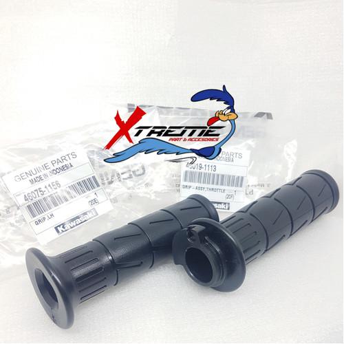 Foto Produk Handgrip Kaze Original Kawasaki Hand Grip Kawasaki Kaze Kanan Kiri dari X3M Racing Shop