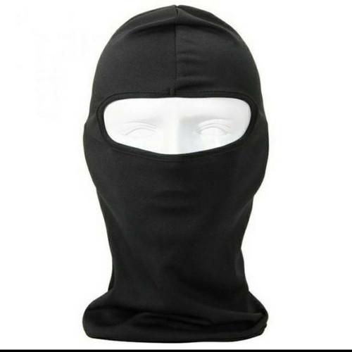Foto Produk Masker Bikers Full Face Mask Ninja Spandex Balaclava Grade Super Hitam dari YOMZ Rider