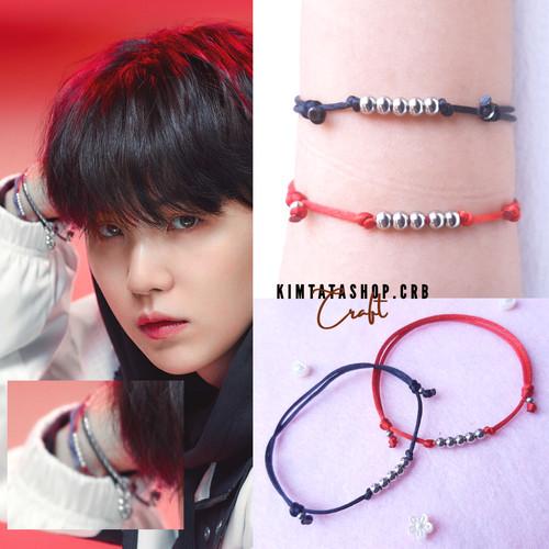 Foto Produk Gelang Jimin Suga BTS /Gelang Kpop (Stainless Beads) - Hitam dari KimtataCraft