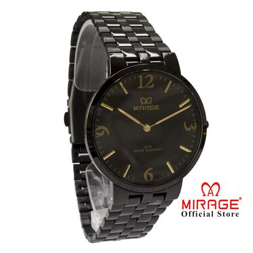 Foto Produk Jam Mirage Cowo Original Hitam Black 8532M Bergaransi 1 Tahun dari Mirage Watch