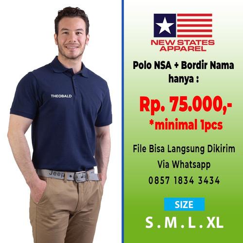 Foto Produk Paket Hemat Bordir NSA Polo Shirt 8100 COLOR,SIZE S-XL - XL dari Kaos Polos Theobald