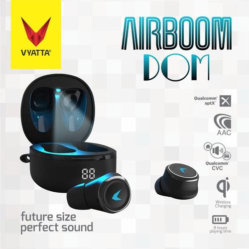 Foto Produk Airboom Dom TWS Bluetooth Earphone QCC Aptx dari VYATTA PALEMBANG