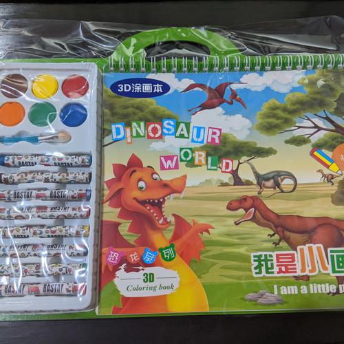 Foto Produk 3D Coloring book / Buku Mewarnai 3D - Dino dari MULTI g