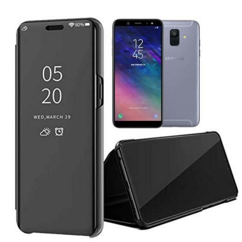 Foto Produk flip Case Samsung Galaxy A6 A6 2018 Clear View Standing Cover dari Vinvend ACC