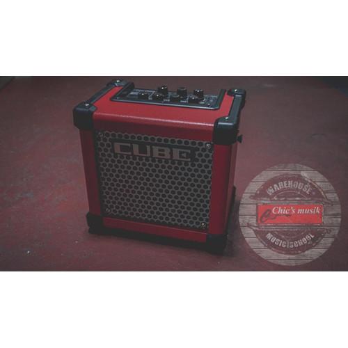 """Foto Produk Roland Micro Cube GXR 3-watt 1x5"""" Battery Powered Combo Amp - Red dari Chics Musik Store"""